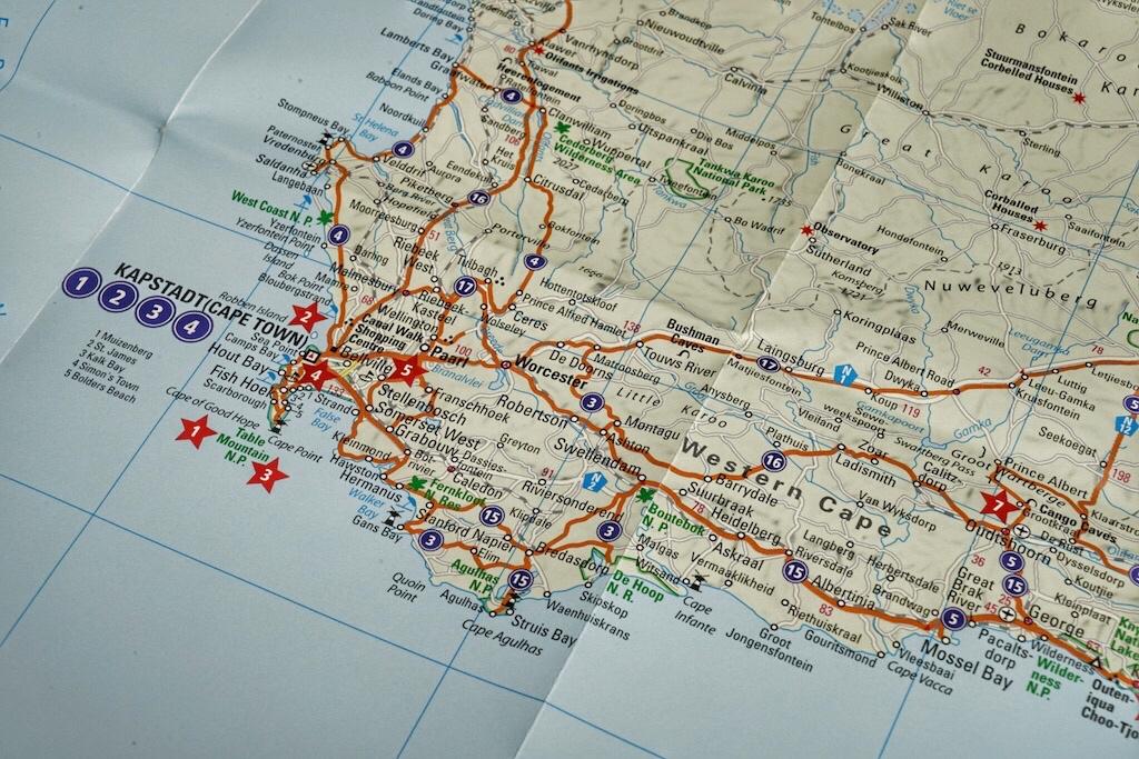 Die Highlights sind geografisch zugeordnet; so kann die ideale Tour ausgearbeitet werde