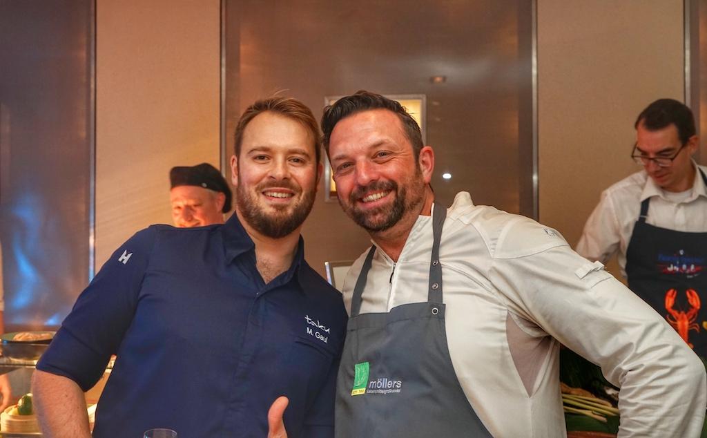 Marco Jakobs (re.) - hier gemeinsam mit Sternekoch Mirko Gaul sorgte für ebenfalls für kulinarische Genüsse ...