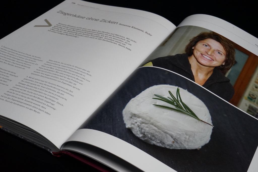 Männerdominanz: Susanne Klemenz aus Suhr ist die einzige weibliche Käserin, welche in dem Buch Käse Wein von Andreas Knecht und Armando Pipitone porträtiert wurde