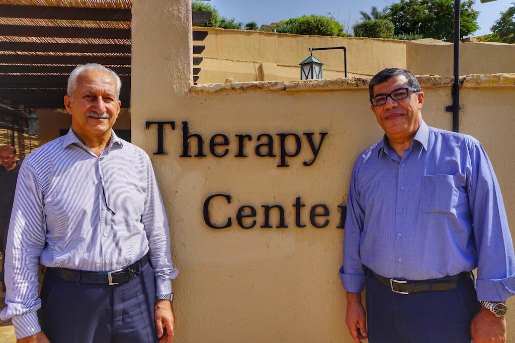 Die leitenden Ärzte des Therapie Centers: Dr. Tareq A. Salhab (re.) und Mohammad Kana'n (li.) Dr. Tareq spricht u.a. auch fließend Deutsch
