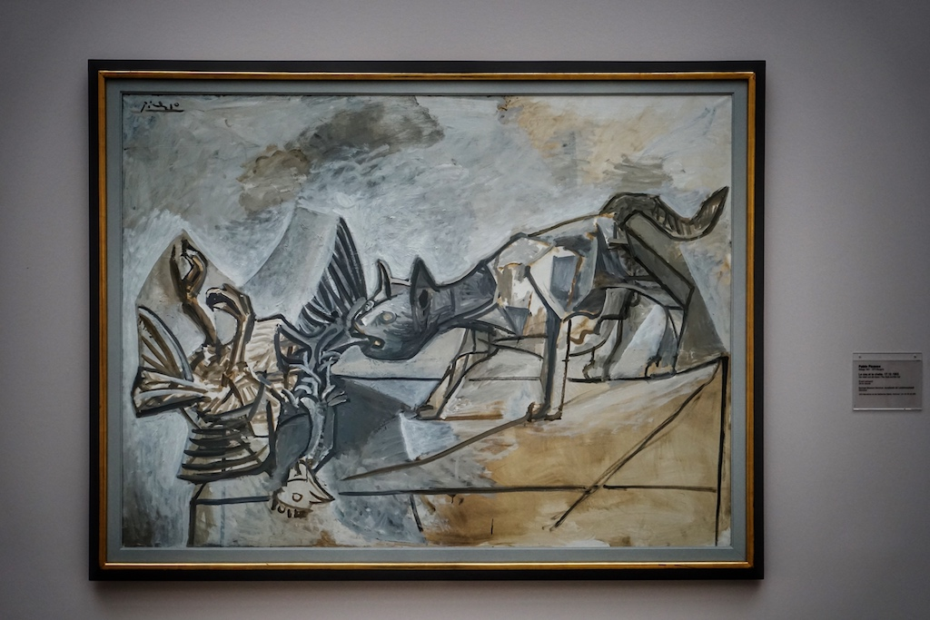 """Pablo Picasso """"Le coq et la chatte"""" gehört zu den, im Sprengel Museum befindlichen, Werken des großen Malers, Grafikers und Bildhauers / © Redaktion FrontRowSociety.net"""