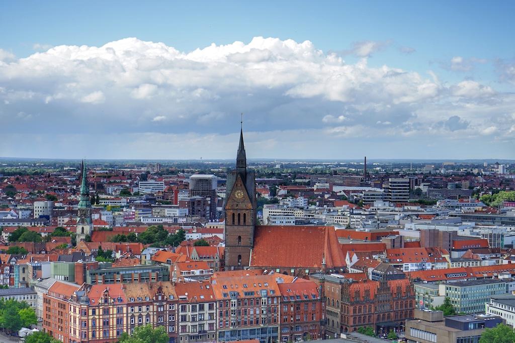 Die Marktkirche von Hannover ist auch von oben ein Blickfang