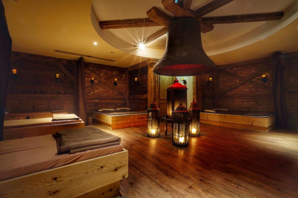 Verheißung von Ruhe und Entspannung - der Sauna-Bereich des Klosterbräu