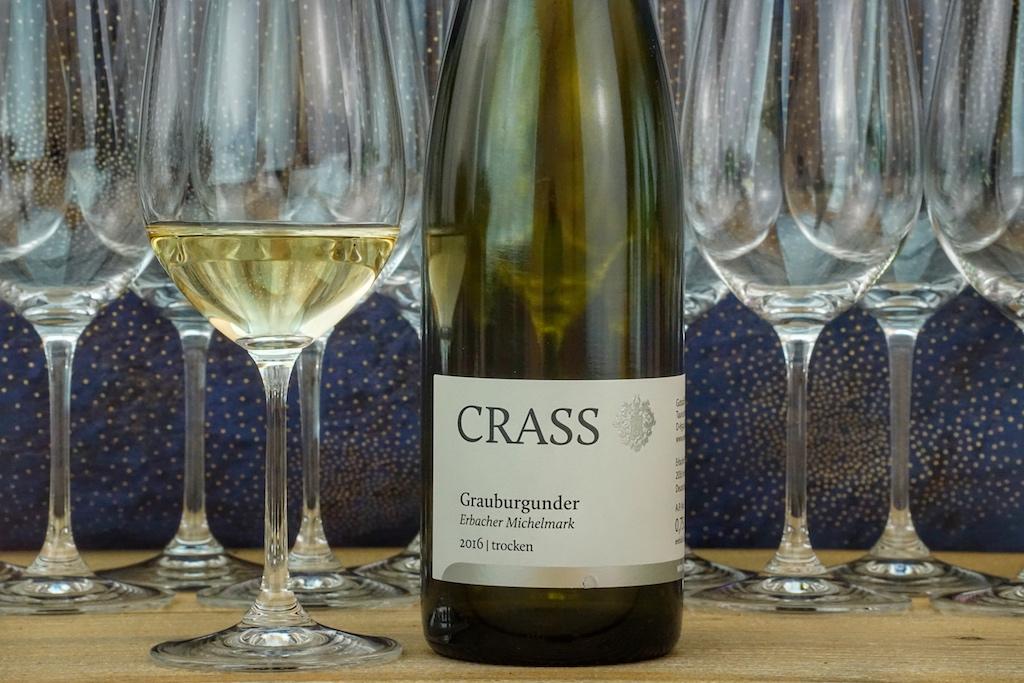 Ein 2016er Grauburgunder, Erbacher Michelmark vom Weingut Crass, harmonierte perfekt zu den servierten Speisen