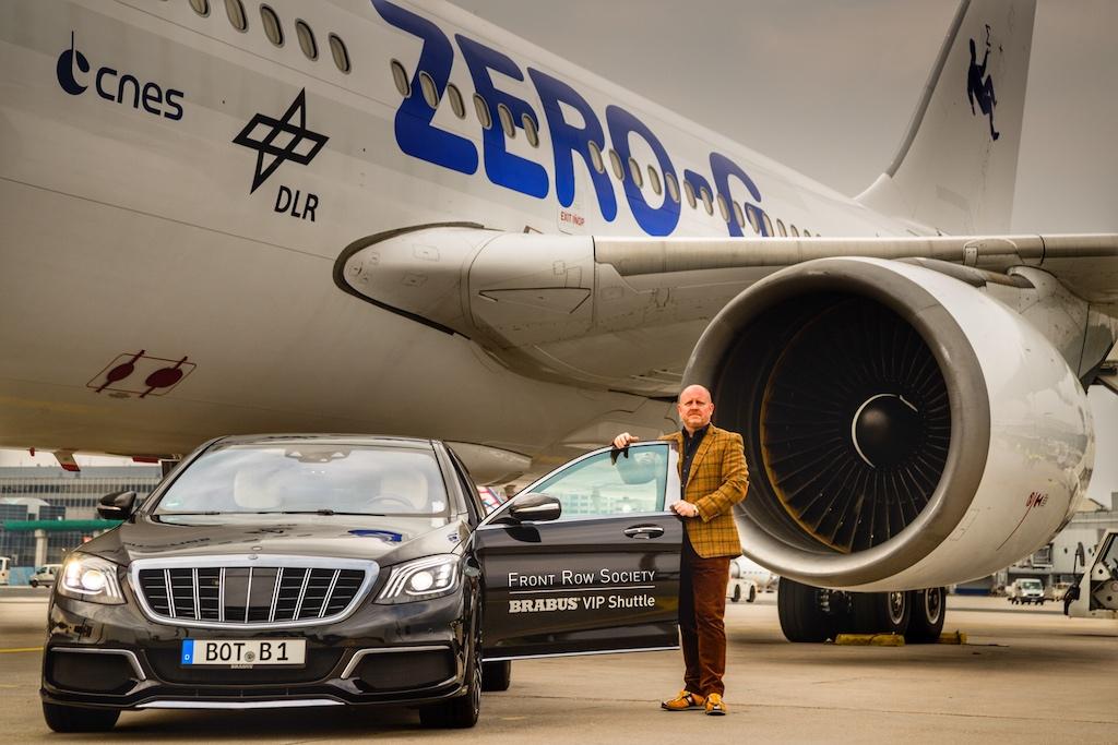 ... und wurde zuletzt auch am Frankfurt Airport beim Zero G Flug für die Prominenz eingesetzt