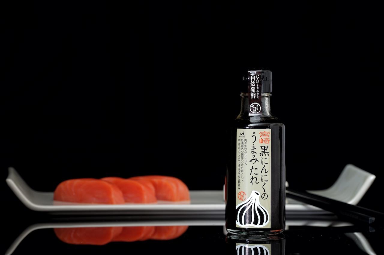 Die MIYAZAKI BLACK GARLIC UMAMI SAUCE harmonierte ausnahmslos gut zu rotem Thunfisch, Hähnchen aber auch Rind