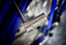Gebt dem Fahrraddieb keine Chance. Das leichteste und wohl sicherste Titan-Faltschloss - APEX Ti von Altorlocks