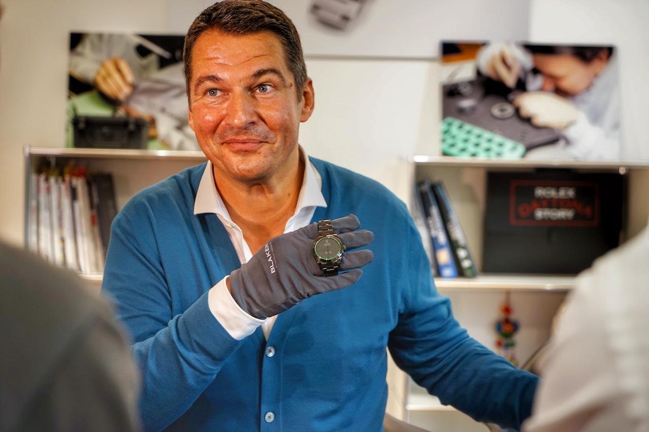 Alexander Klingbeil ist überzeugter Blaken'aner - er präsentiert die handwerklichen Kunststücke Kunden aus der ganzen Welt