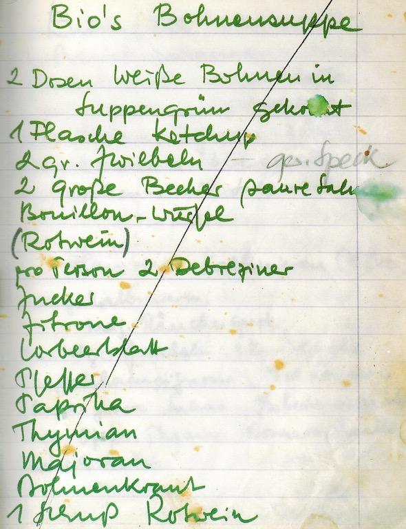 Alfred Biolek hat über Jahrzehnte Rezepte - handschriftlich - zusammengetragen; man könnte sagen der Vorläufer zu bekannten Portale ala Chefkoch.de