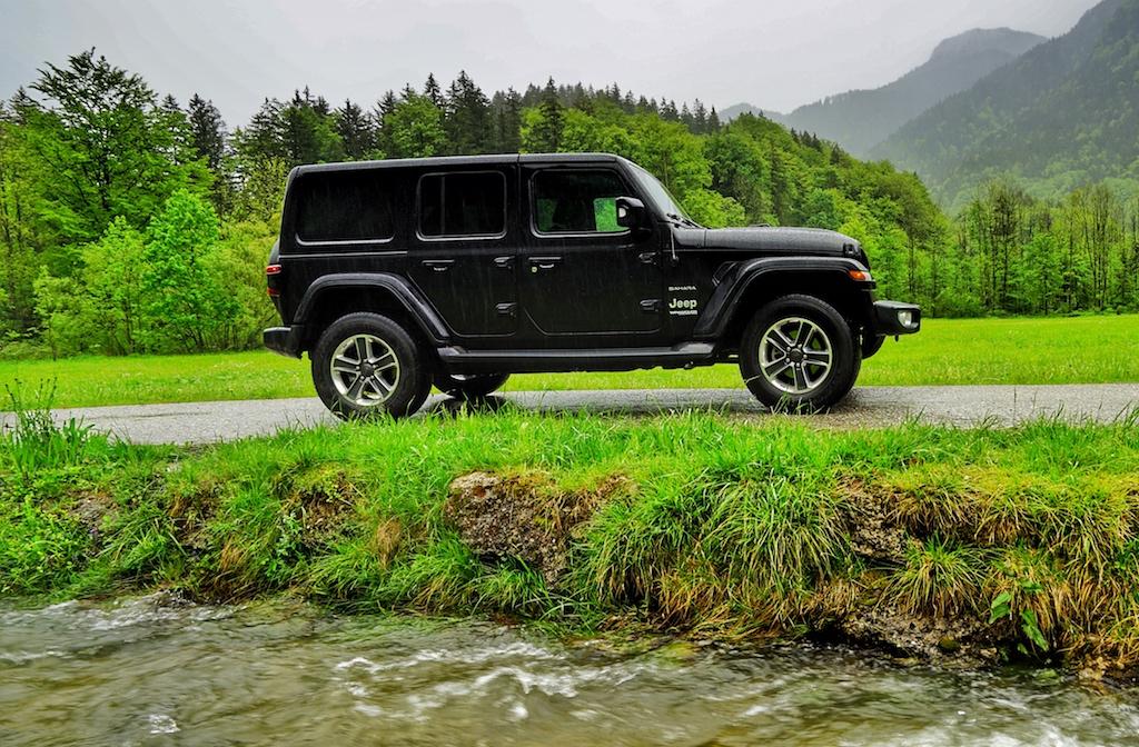 Selbst tiefere Wasserdurchfahrten wären mit dem Jeep Wrangler möglich