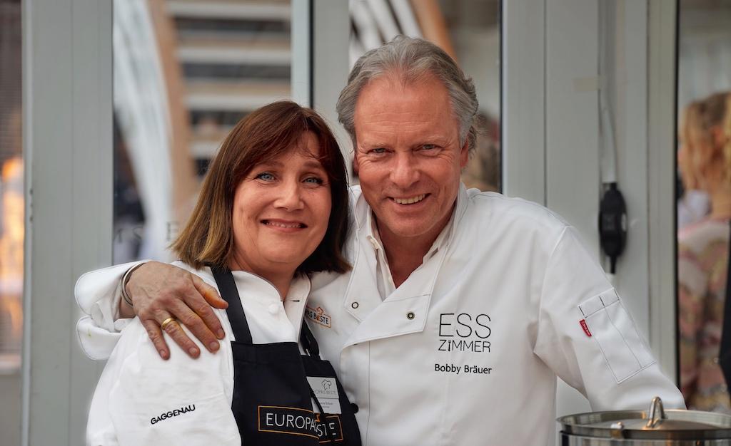 2 Sternekoch Bobby Bräuer - angereist mit seiner Frau Stephanie - war hingegen aus München, ...
