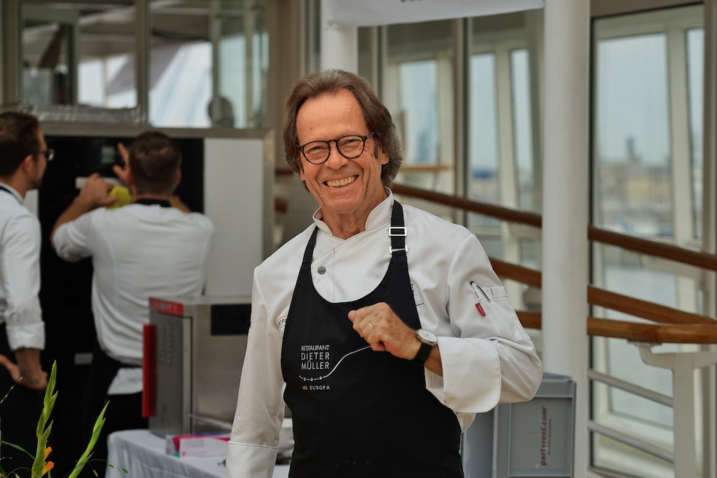 Im Fokus vieler Gourmets standen sicherlich 3 Sternekoch Legende Dieter Müller ..