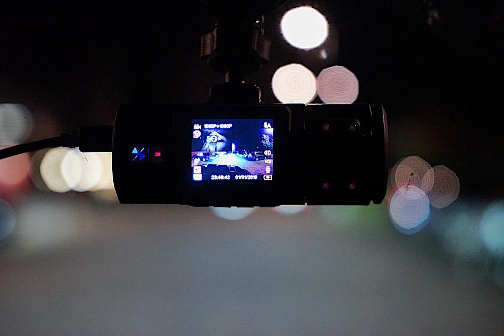...aber auch in der Nacht, bei geringerem Lichteinfall erzielt die Dashcam noch gute Resultate