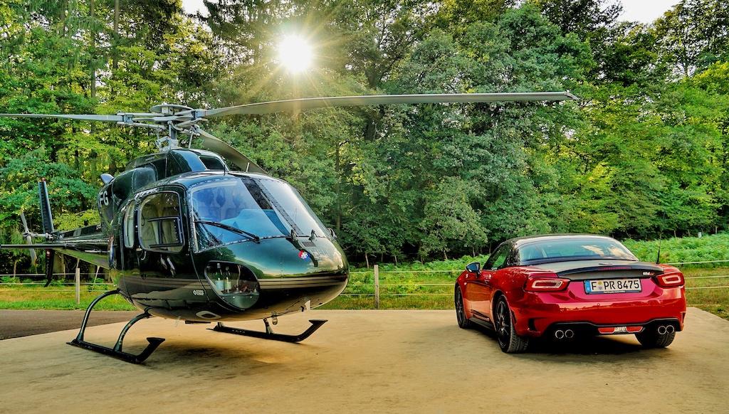 ... und mit dem Helikopter das Elsass erkunden