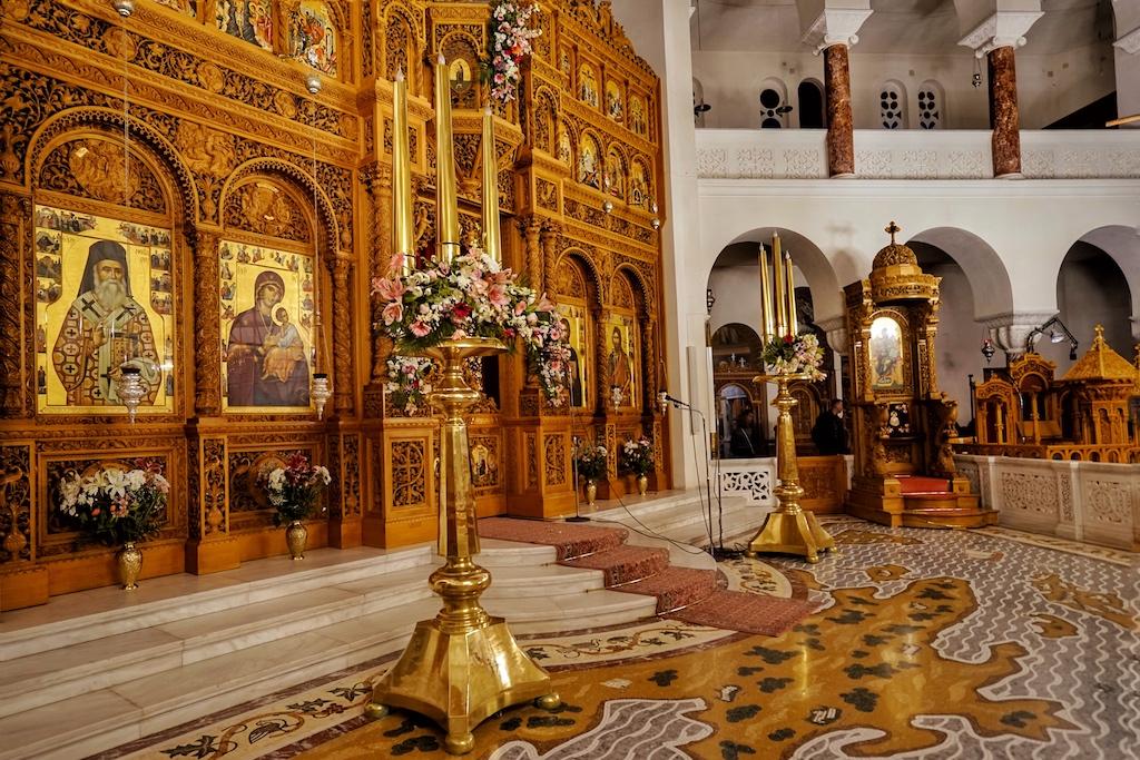 Der formschöne Altar von der Cathedral Of Saint Nectarios