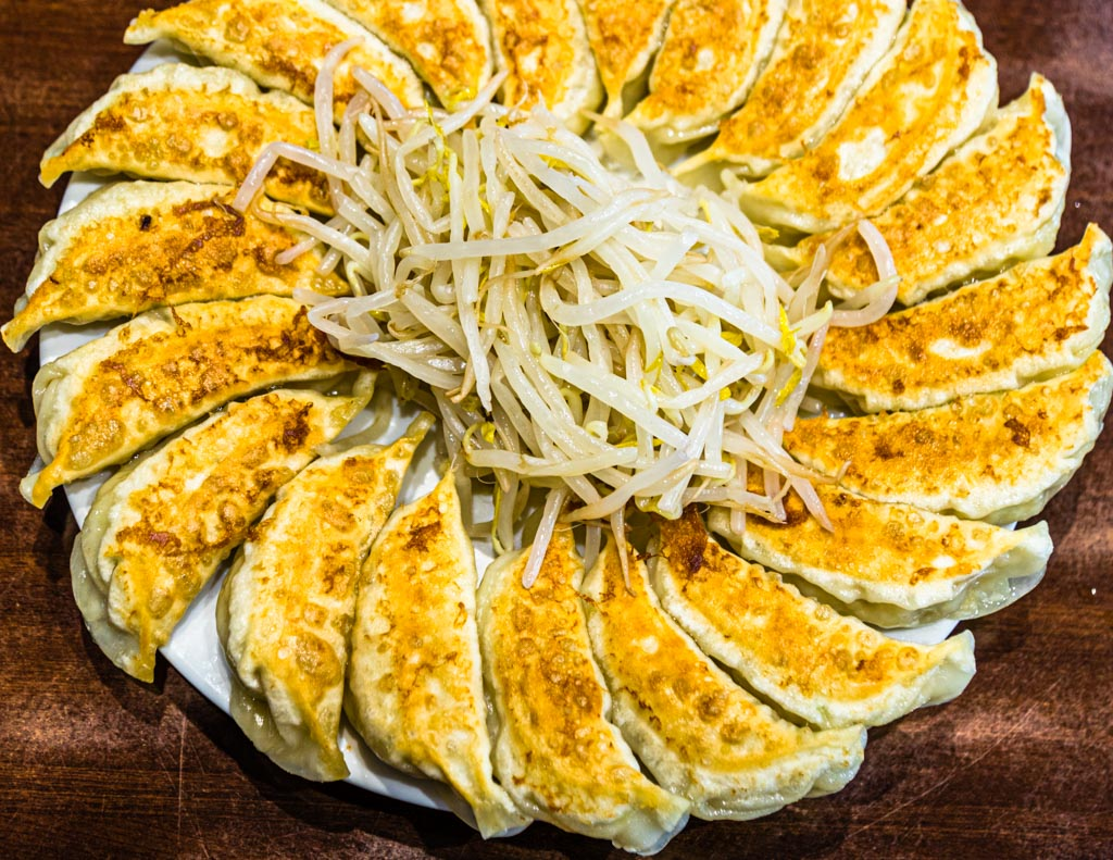 Eine weitere japanische Spezialität, an der man auch gleich die Verwendung von Soja-Sauce praktizieren kann, sind Gyoza. In Hamamatsu sind die Teigtaschen mit Schweinehackfleisch, Weißkohl, Frühlingszwiebeln, Knoblauch und Ingwer gefüllt / © FrontRowSociety.net, Foto: Georg Berg
