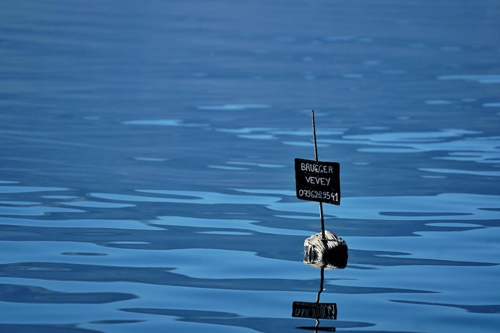 Jeder Fischer auf dem Genfersee steckt seine Fanggründe ab, so zieht keiner ein fremdes Fischernetz an Bord