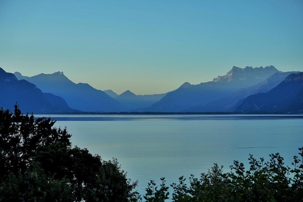 Der Genfersee: Traumhaft schön, auch schon bei Sonnenaufgang