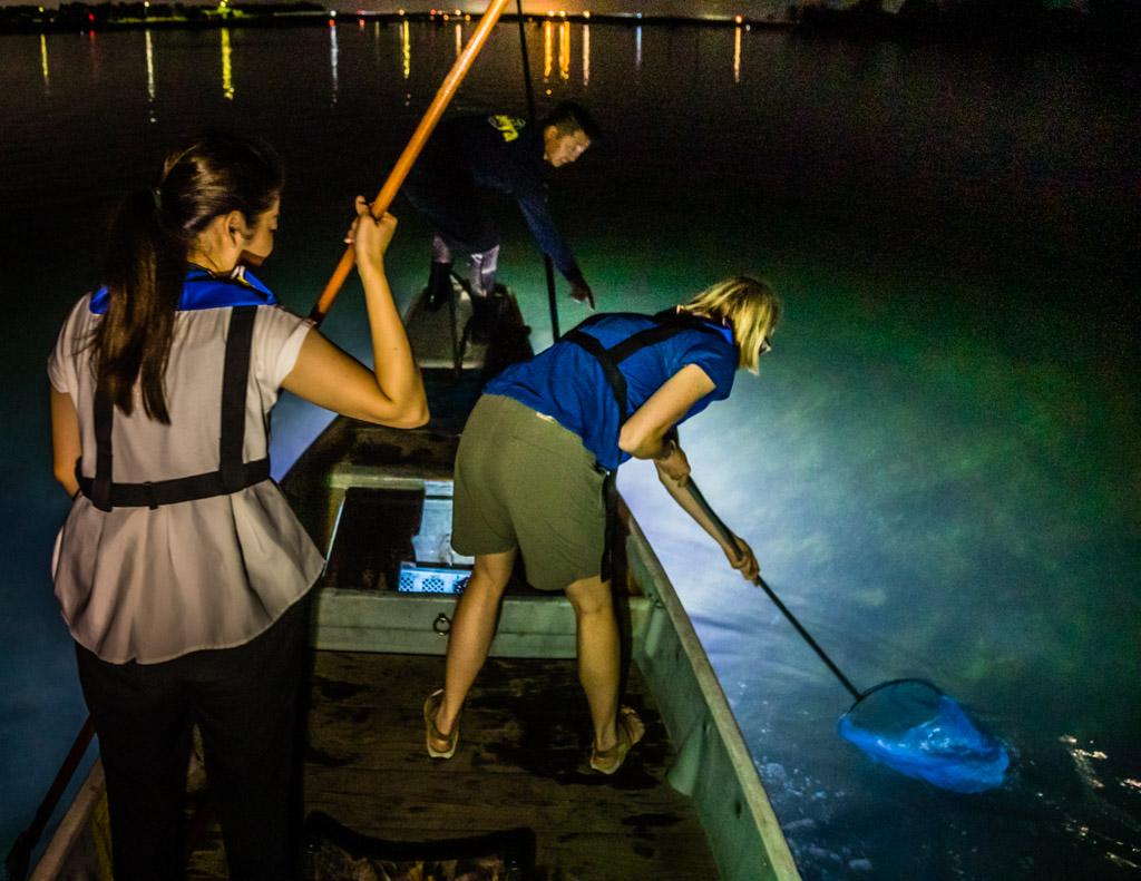Als weiteres Fangwerkzeug wird der Cacher eingesetzt um Fische zu fangen / © FrontRowSociety.net, Foto: Georg Berg