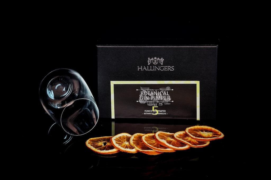 Wer seinen Gin pimpen möchte, ... die Firma Hallingers hat ein feines Pimper Set im Angebot