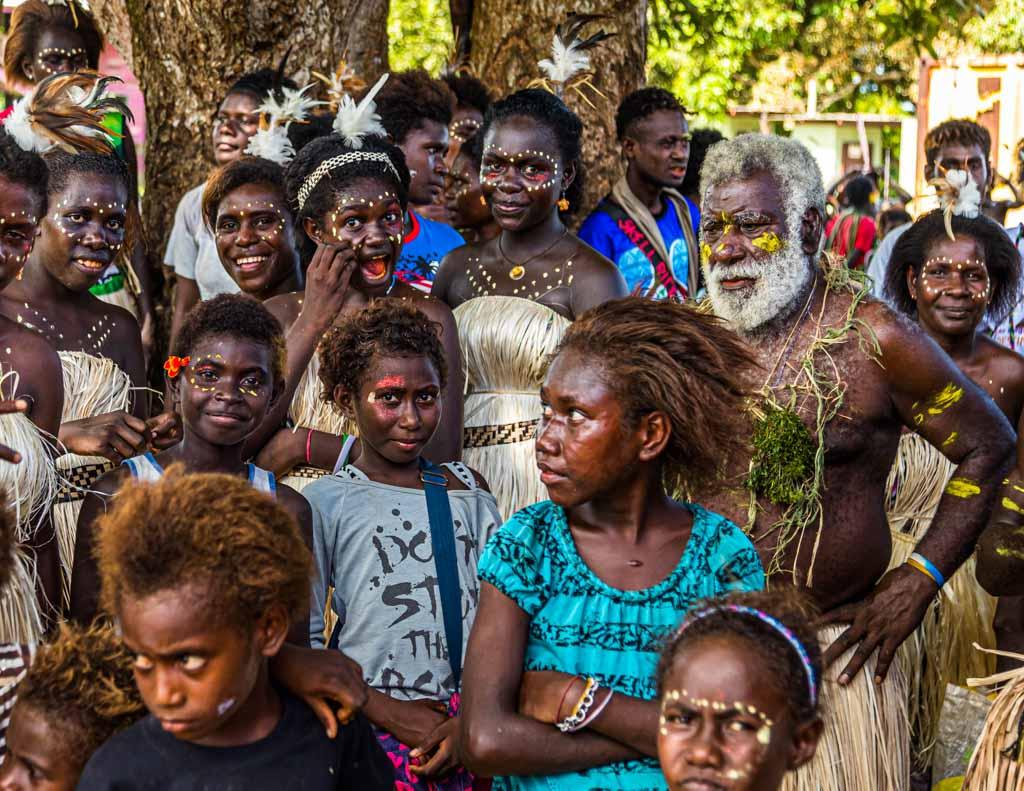 Überall auf der Insel Bougainville werden wir mit guter Laune empfangen / © FrontRowSociety.net, Foto: Georg Berg