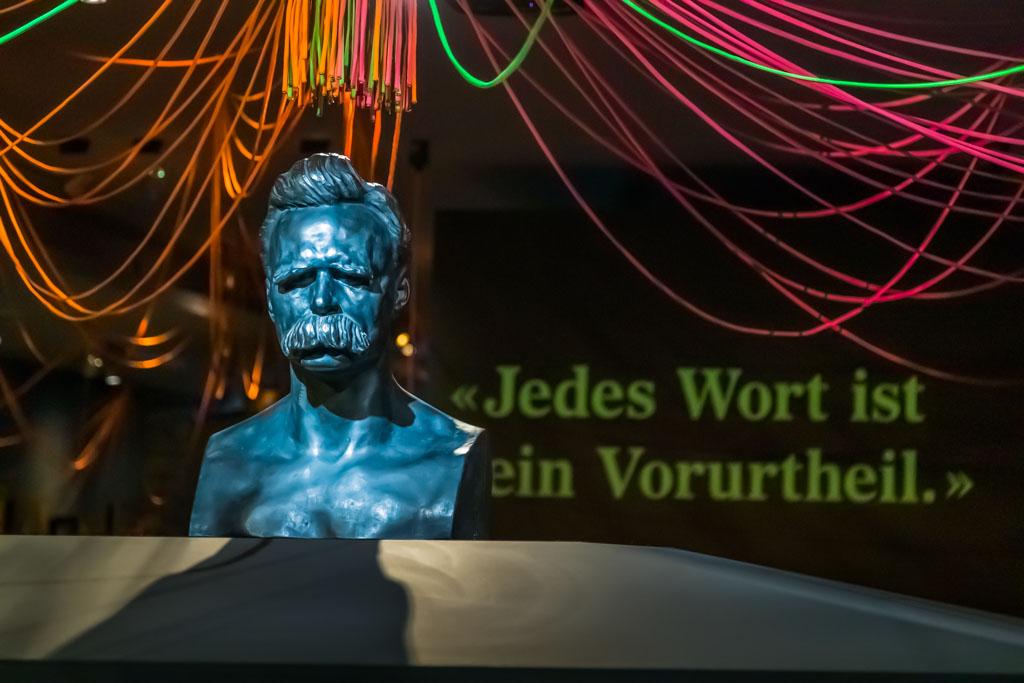 Einige Aphorismen aus dem Werk von Friedrich Nietzsche sind ebenso bekannt wie sein mächtiger Schnauz / © FrontRowSociety.net, Foto: Georg Berg