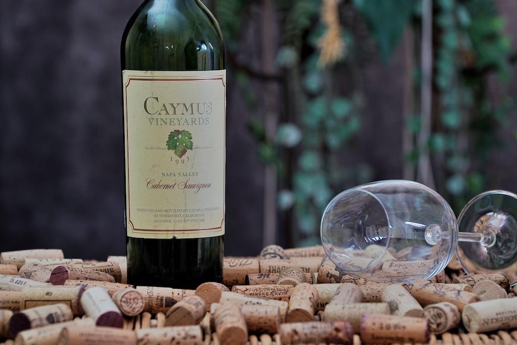 Weine aus Cabernet Sauvignon ist die global am häufigsten eingesetzte Rebsorte - sie wird weltweit auf übr 300.000 Hektar angepflanzt. Hier im Bild ein 1995er Cabernet Sauvignon von Cymus