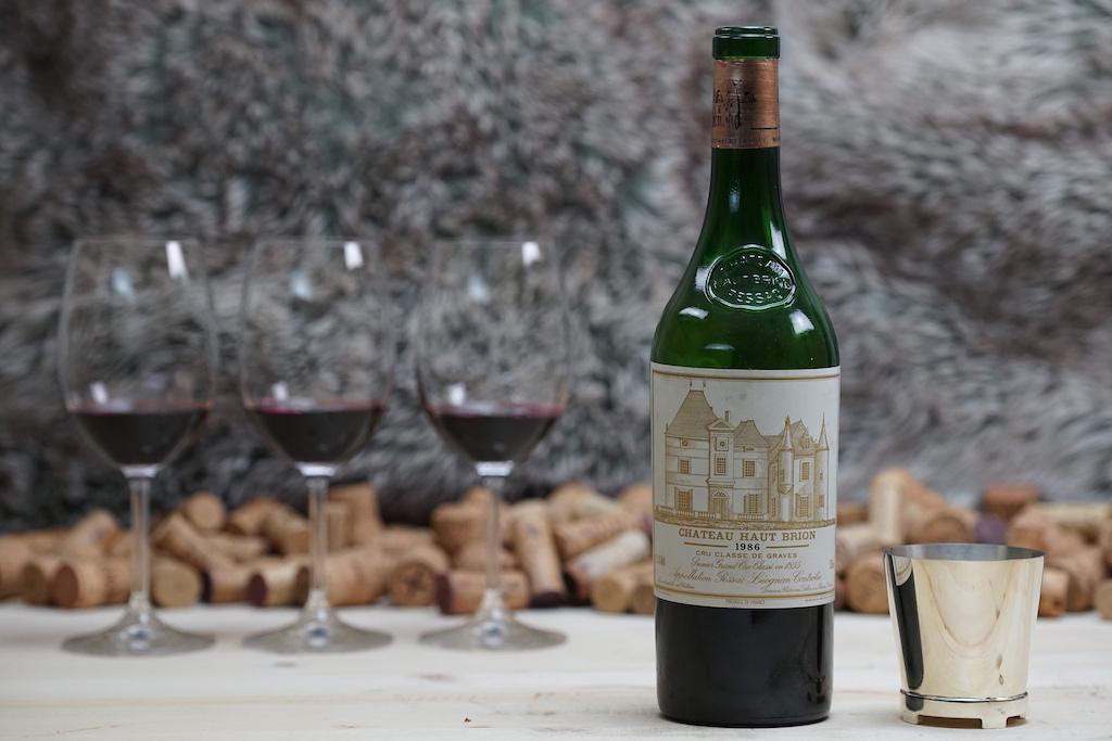 Weine von Weltklasse kommen auch von Château Haut-Brion, hier ein 1986er