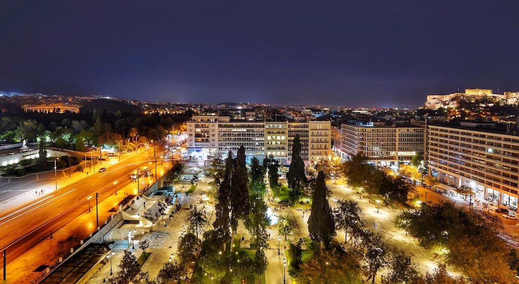Das 5 Sterne Hotel Grande Bretagne liegt direkt am Syntagma-Platz