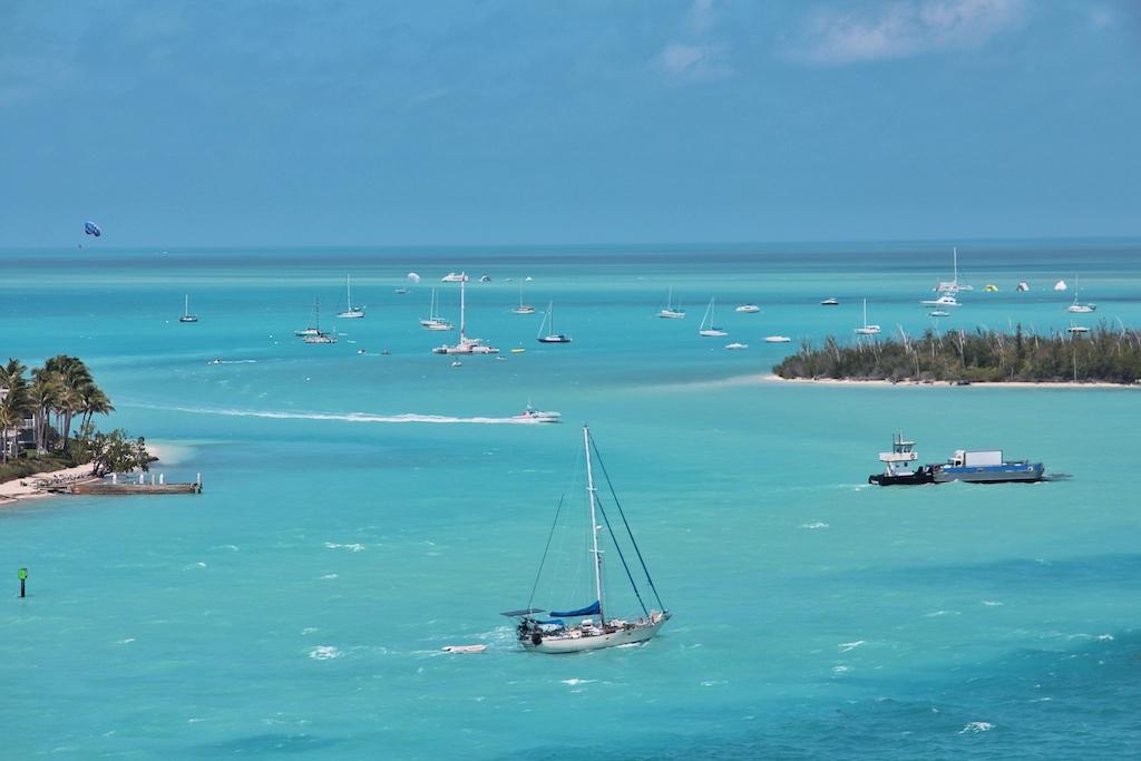 """Hinter Key West liegen in der türkisblauen Karibik nur noch die Marquesas und die Dry Tortugas – die """"Jagdgründe"""" Hemingways"""