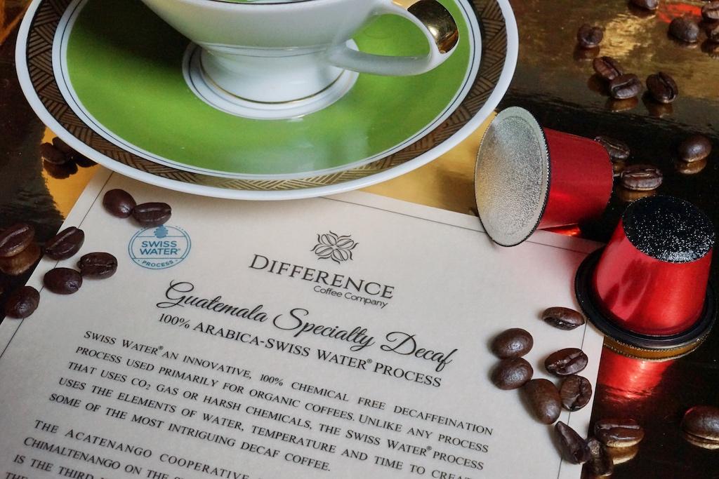 Der Guatemala Specialty Decaf wird durch das SWISS WATER-Verfahren entkoffeiniert. Trinkgenuss ohne Reue