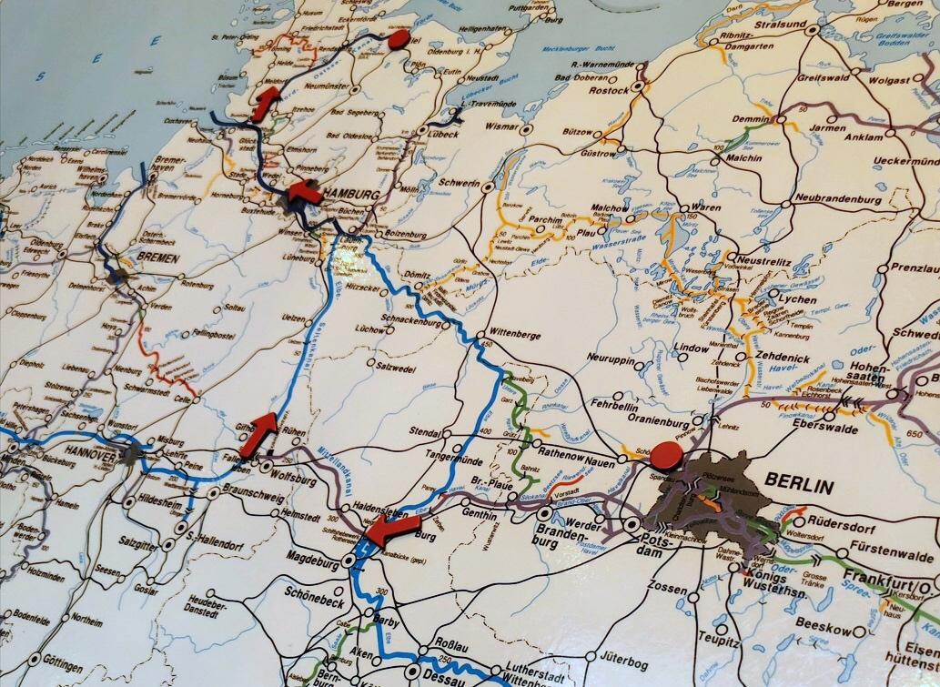 Die Route von MS SANS SOUCI von Berlin nach Kiel und zurück / © FrontRowSociety.net, Foto: Dr. Peer Schmidt-Walther