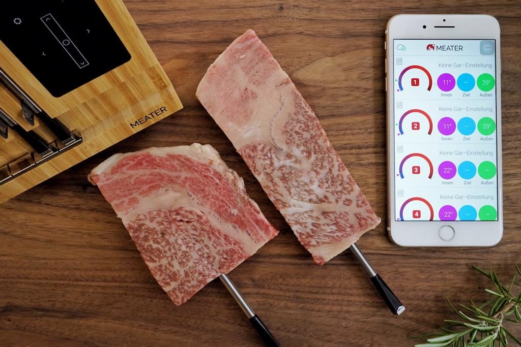 Die Meater App funktioniert einwandfrei und ist kinderleicht zu bedienen