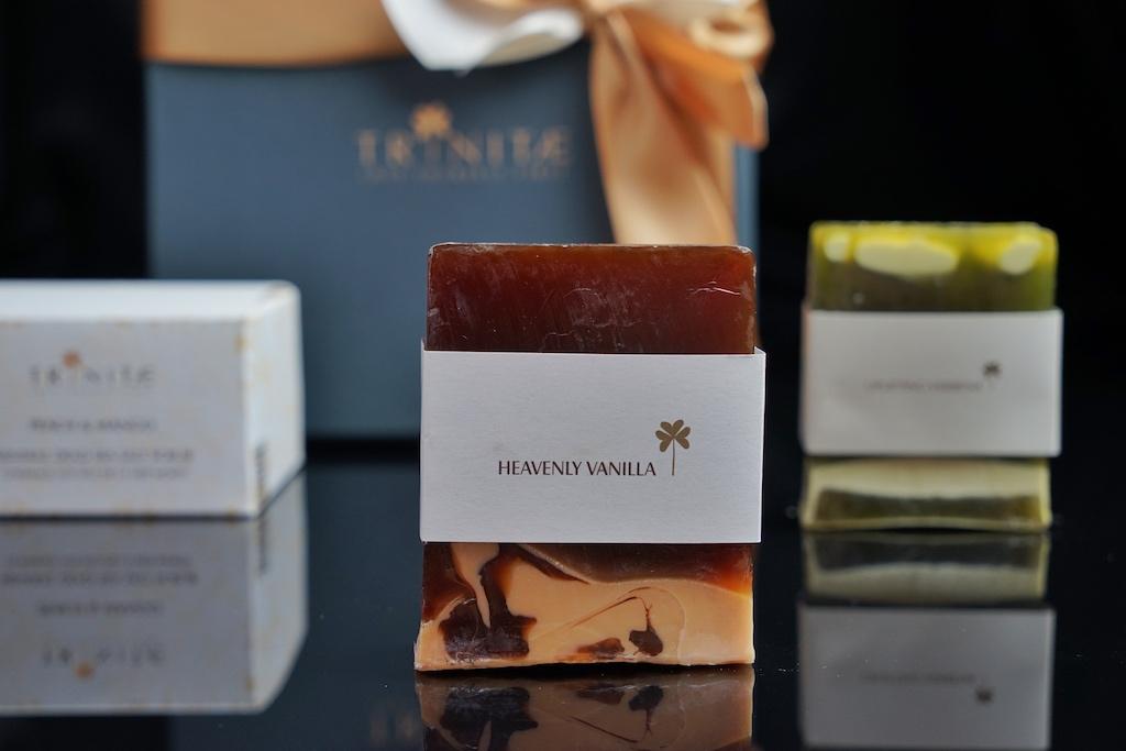 Luxusseifen gehören ebenfalls zum Produktportfolio der Firma Trinitae