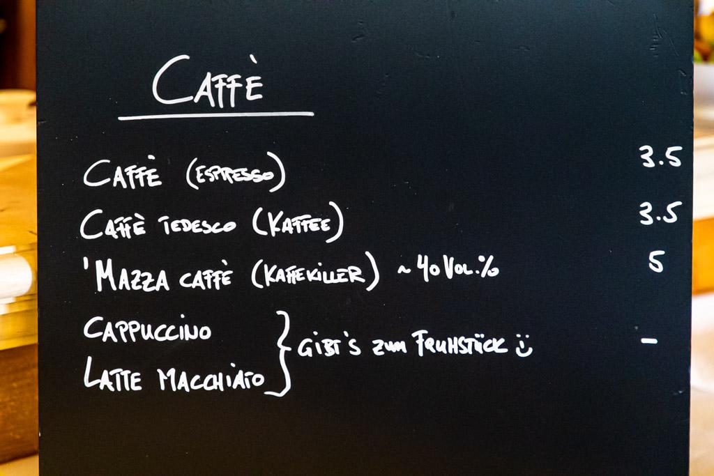 Im Hotel Mühle gibt es Cappuccino und Latte Macchiato nur zum Frühstück. Alles andere wäre zutiefst unitalienisch / © FrontRowSociety.net, Foto: Georg Berg