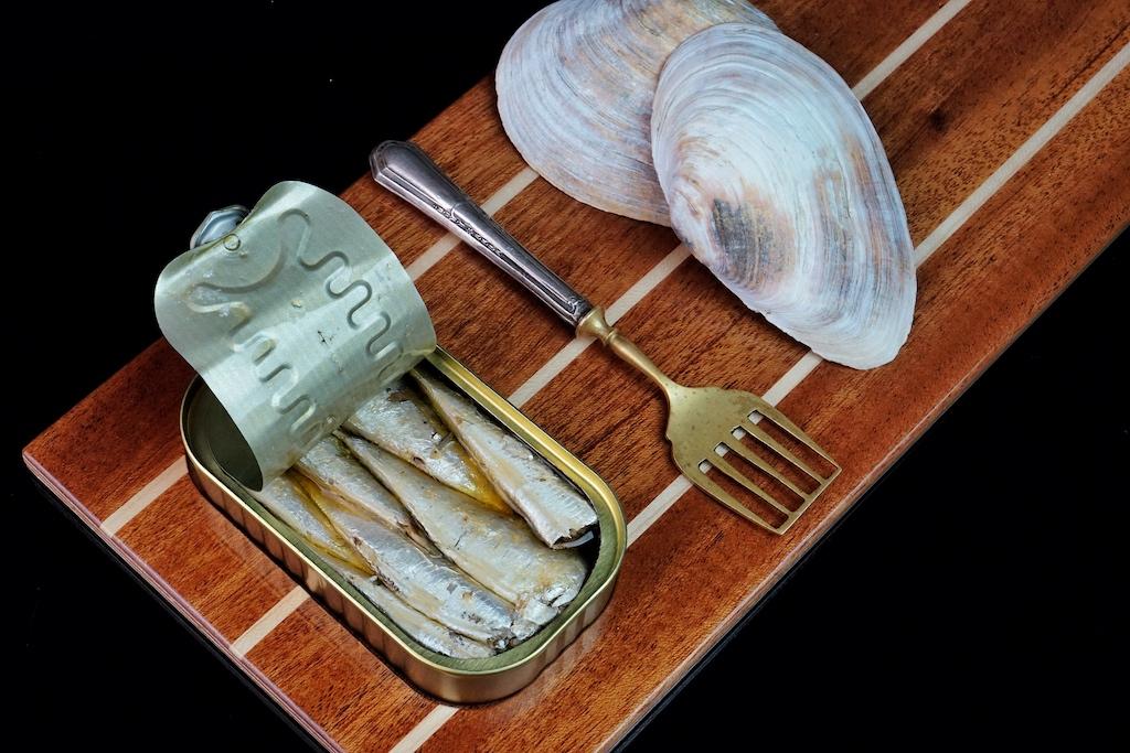 Pikanten Sardinen, vor der Küste der Iberischen Halbinsel gefischt
