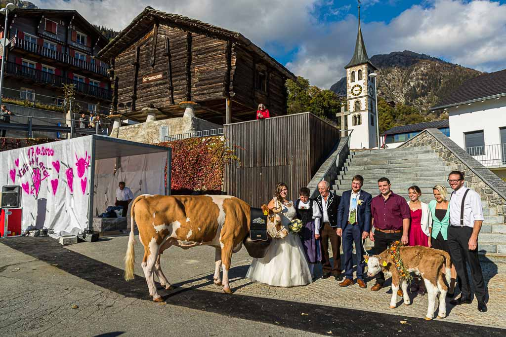 Hochzeit vor dem Safran-Museum. Als Geschenk gibt es ein Kalb und eine Kuh / © FrontRowSociety.net, Foto: Georg Berg