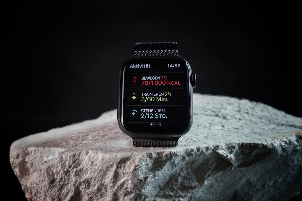 Apple Watch, Series 6, die Aktivitätsanzeige: Schnell im Zugriff