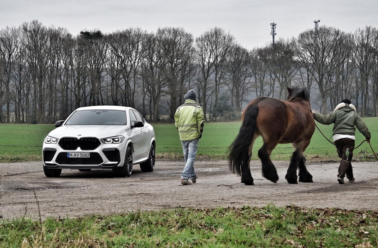 Der BMW X6 M Competition ist in jeder Sicht ein wahrer Hingucker, bei Mensch und Tier ;-)