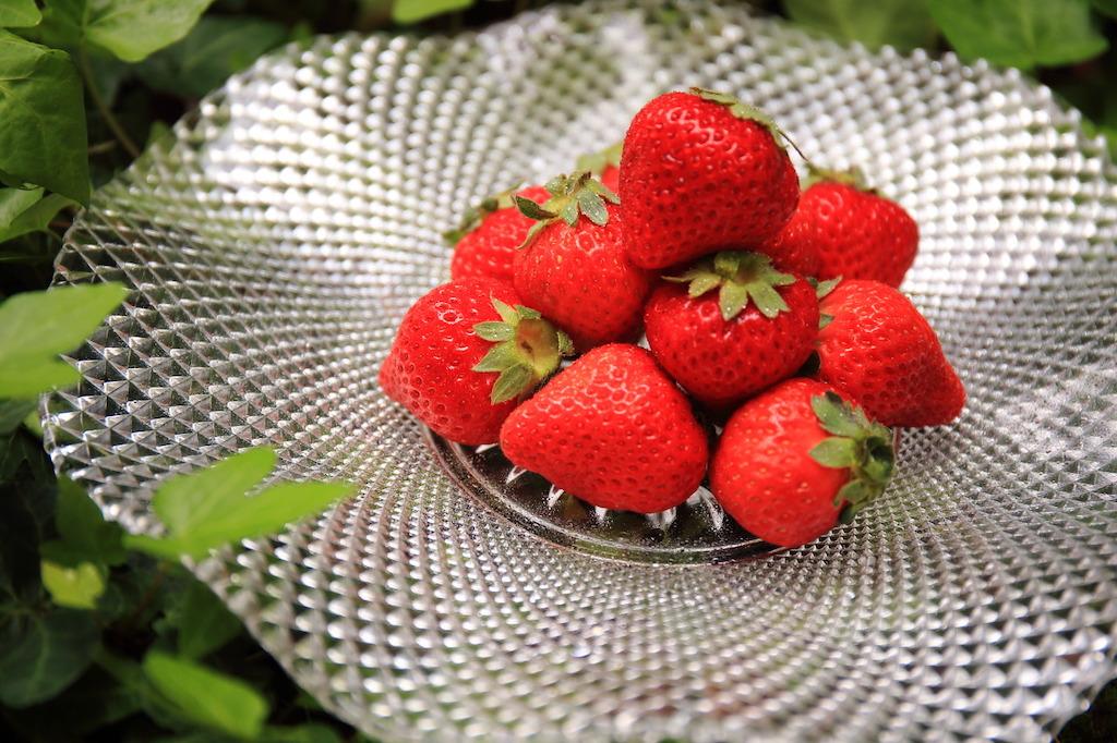 ... und Mitsunoka Ichigo Erdbeeren aus der Präfektur Fukuoka