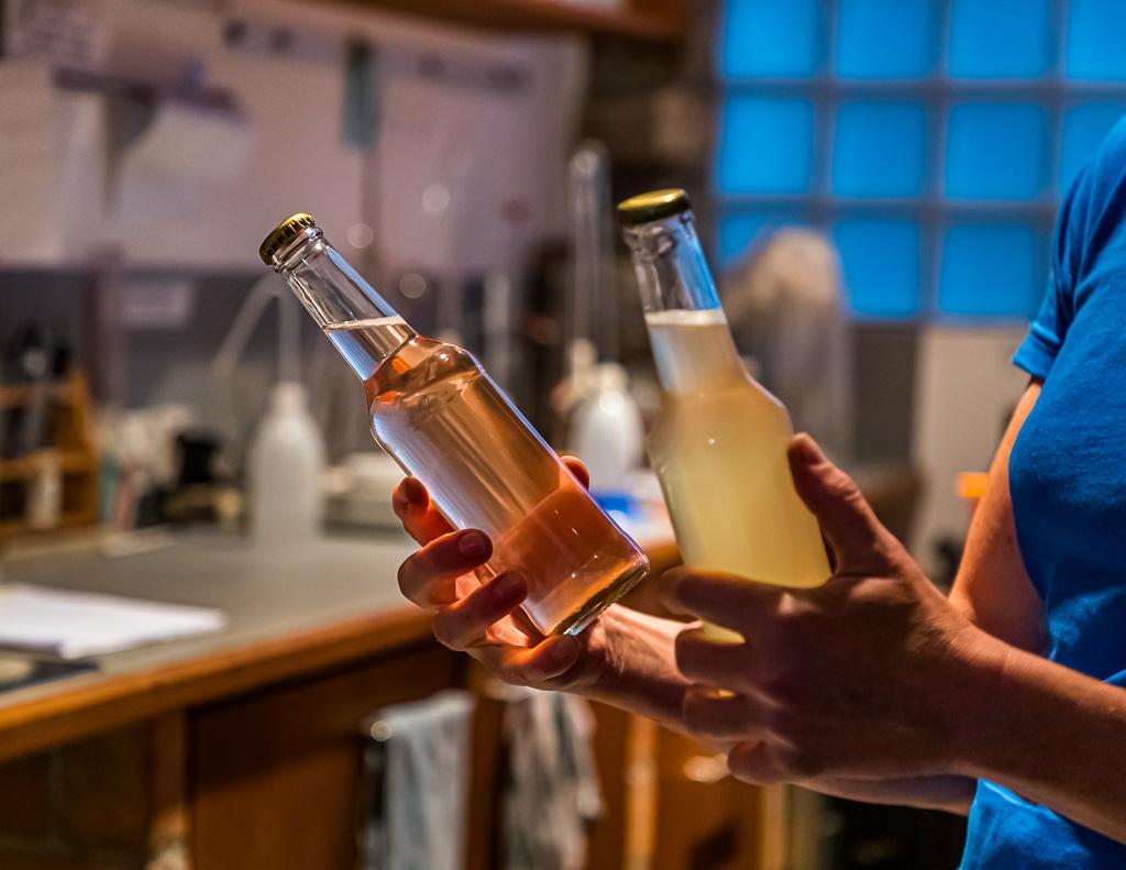 Zeit für Experimente: Hier ein Schaumwein aus ausgepressten Merlot-Trauben in Flaschengärung / © FrontRowSociety.net, Foto: Georg Berg / © FrontRowSociety.net, Foto: Georg Berg