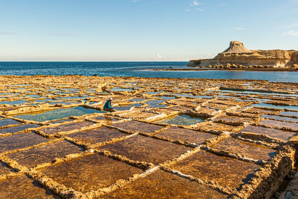 Alte römische Verdunstungsbecken zur Meersalzgewinnung / © FrontRowSociety.net, Foto: Georg Berg