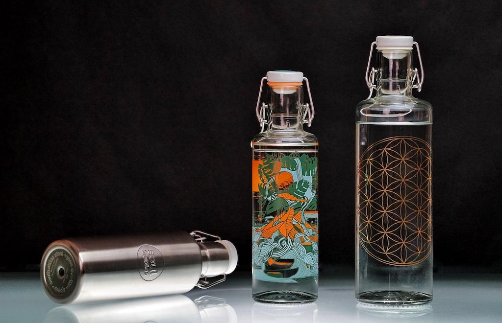 Trinkflaschen aus Glas müssen kein Nachteil sein