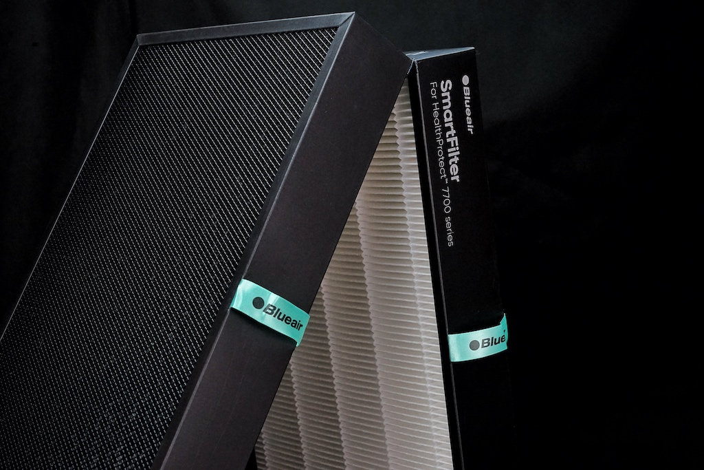Das zweiteilige Filterelement von Blueair kann im Handumdrehen ausgetauscht werden