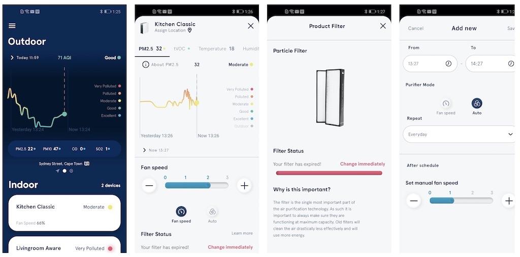 Mit der Bluerair App kann man bequem von fast jedem Ort auf dem Planten seinen Luftreiniger steuern, egal ob dieser im Wohnzimmer, dem Schlafzimmer oder dem Büro seht