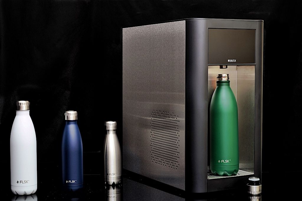 Die FLSK Trinkflaschen sind auslaufsicher und dicht, auch bei kohlensäurehaltigen Getränken