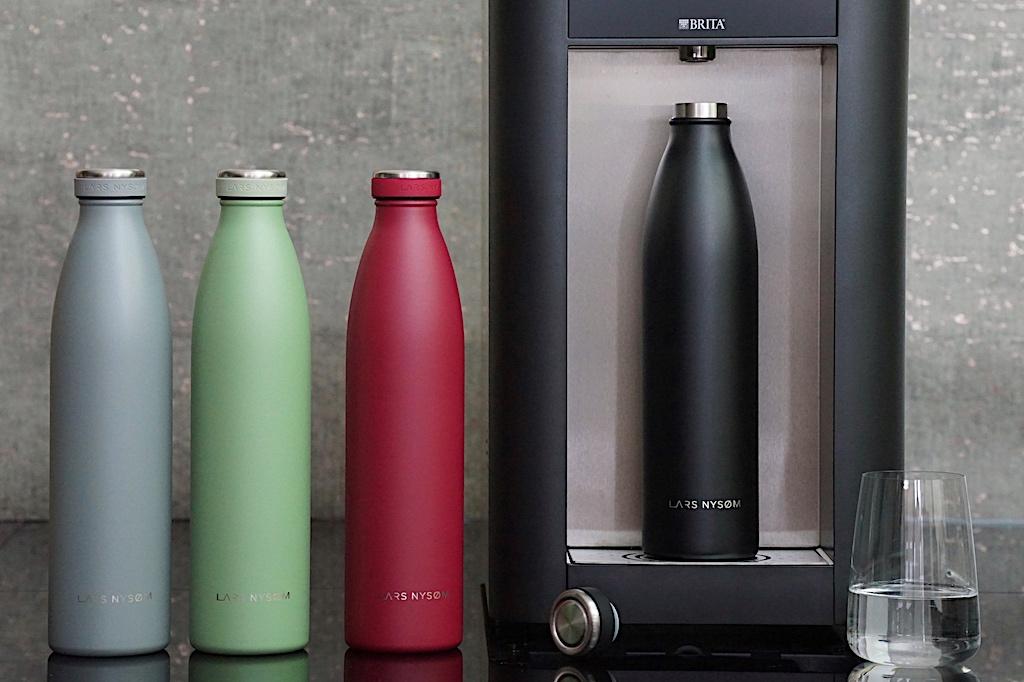 Trinkflaschen von LARS NYSØM zeichnen sich durch hohe Qualität und schlankes Design aus