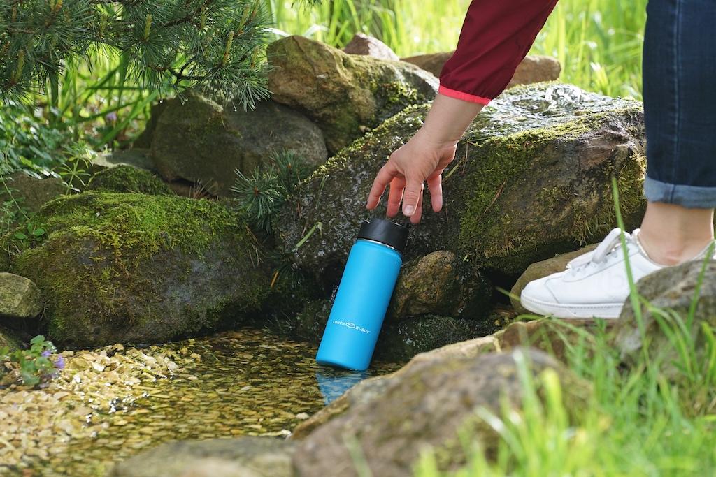 LunchBuddy Isolierflaschen weisen eine hocheffiziente Vakuumisolierung auf und schützen so den Inhalt perfekt vor äußeren Temperaturen