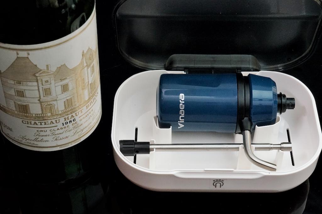 ... mit dem Vinaera Travel - dem kleinsten Weinbelüfter der Welt - nun auch unterwegs
