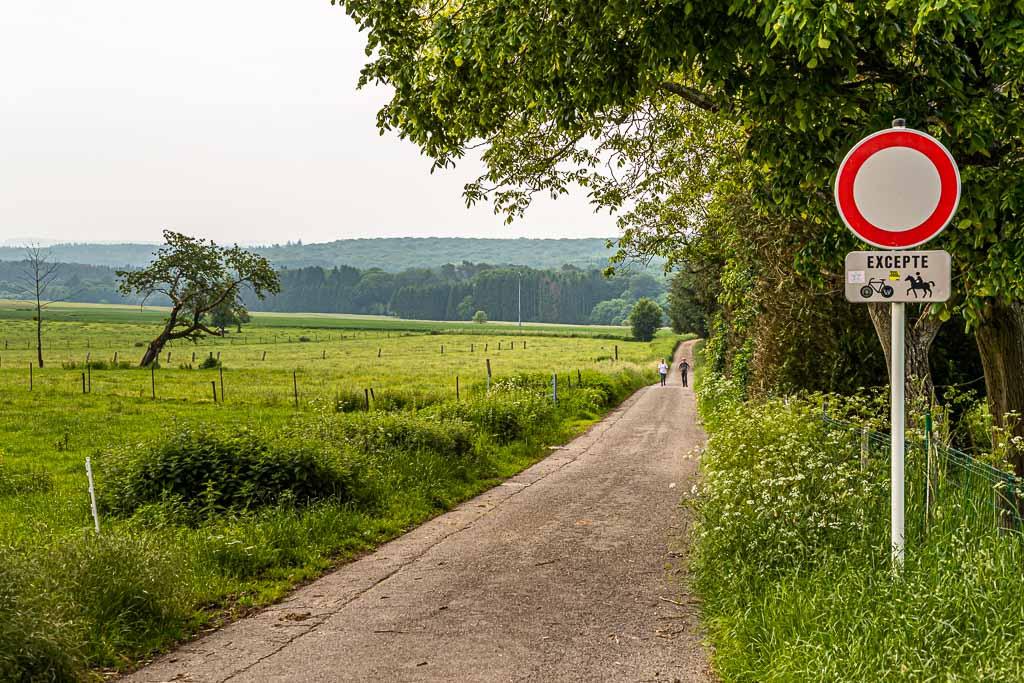 Startpunkt der Tagesetappe ist Berdorf. Aus dem Dorf heraus führt schnurstracks ein Feldweg Richtung Wald und schon nach wenigen Gehminuten ist man in einer anderen Welt / © FrontRowSociety.net, Foto: Georg Berg